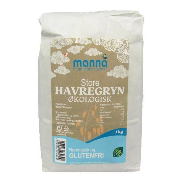 Bilde av Manna Havregryn store, glutenfri 1 kg