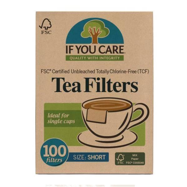 Bilde av If You Care Tefilter korte - 100 stk